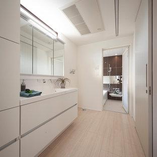 Inspiration pour un WC et toilettes minimaliste.