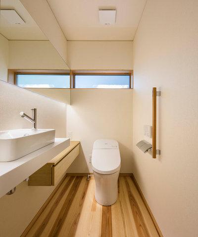 アジアン トイレ・洗面所 by 菊池ひろ建築設計室|kikuchihiro design office