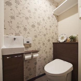 Idée de décoration pour un WC et toilettes chalet.