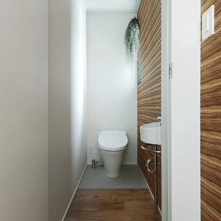 京都の北欧スタイルのおしゃれなトイレ・洗面所の写真