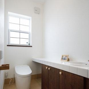 造作の手洗いカウンター