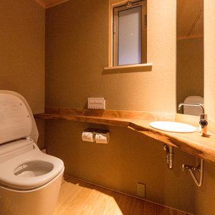 横浜の和風のおしゃれなトイレ・洗面所の写真