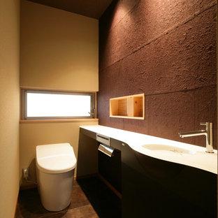 京都の和風のおしゃれなトイレ・洗面所の写真