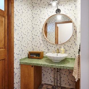 他の地域のシャビーシック調のおしゃれなトイレ・洗面所の写真