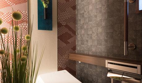 壁紙を楽しむ。おしゃれで機能的なトイレ&パウダールーム6選