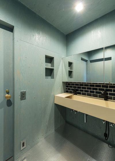 コンテンポラリー トイレ・洗面所 by SQOOL一級建築士事務所