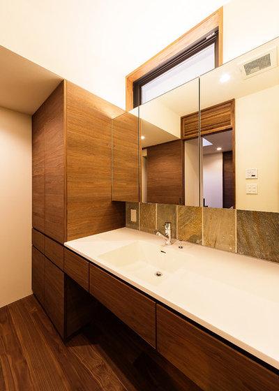 アジアン トイレ・洗面所 by 一級建築士事務所haus