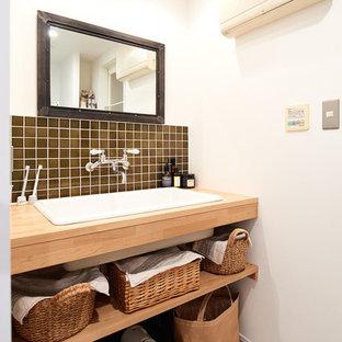 他の地域のミッドセンチュリースタイルのおしゃれなトイレ・洗面所の写真