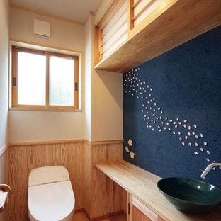 Пример оригинального дизайна: туалет в восточном стиле