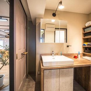 東京23区のインダストリアルスタイルのトイレ・洗面所の画像
