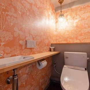 名古屋のモダンスタイルのおしゃれなトイレ・洗面所の写真