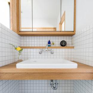 Cette photo montre des WC et toilettes scandinaves.