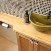 コンパクトでおしゃれな手洗いカウンターのあるトイレ44選