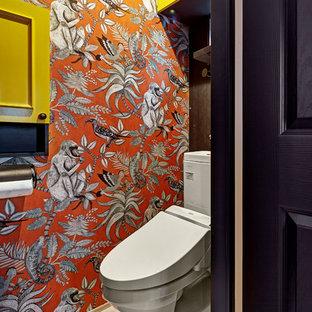 東京都下のエクレクティックスタイルのおしゃれなトイレ・洗面所の写真