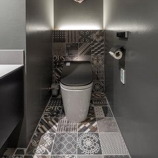 東京23区のモダンスタイルのおしゃれなトイレ・洗面所の写真