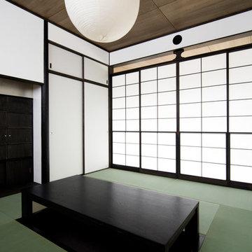 テラスから綠を見下ろす~成城の二世帯住宅