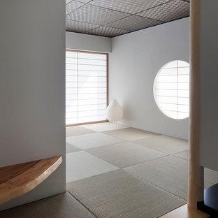 Idée de décoration pour une salle de séjour asiatique.