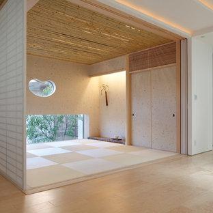 Aménagement d'une salle de séjour asiatique.