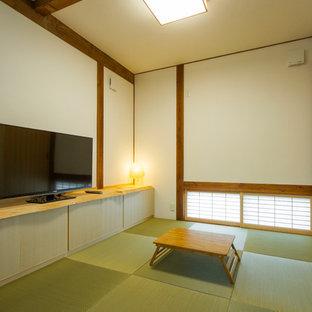 Exemple d'une salle de séjour asiatique.