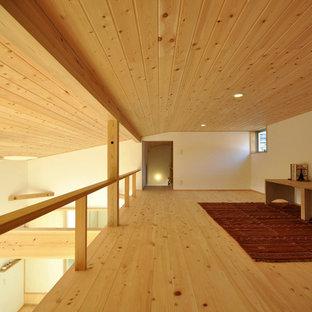 他の地域の北欧スタイルのおしゃれなファミリールームの写真