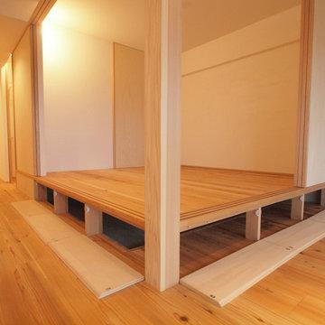 小上がりの床下は大容量の床下収納