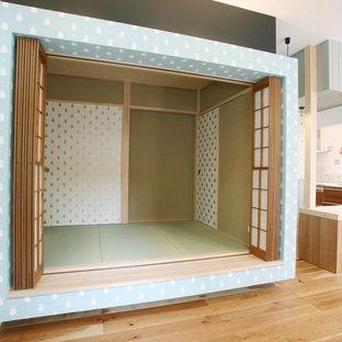 Diseño de sala de estar asiática pequeña