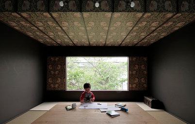 Houzz Япония: Дом с видом на сакуру и гнездом для чтения