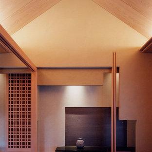 横浜のアジアンスタイルのおしゃれなファミリールーム (ベージュの壁、畳、暖炉なし、テレビなし) の写真