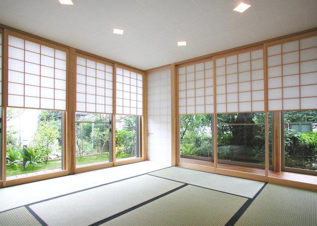 Japonés Sala de estar by ユミラ建築設計室