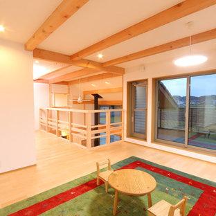 薪ストーブのある大空間の家