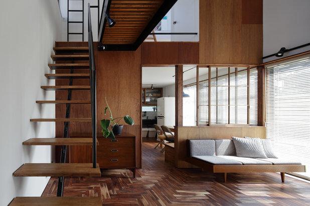 モダン ファミリールーム by *studio LOOP 建築設計事務所