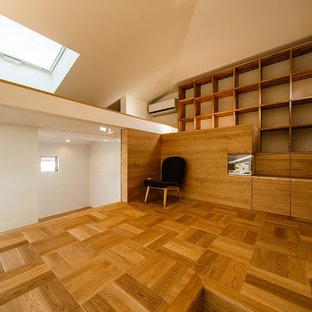 神戸の北欧スタイルのおしゃれなファミリールームの写真