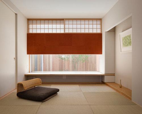 Modernes arbeitszimmer  Modernes Arbeitszimmer mit Tatami-Boden - Ideen für Ihr Home ...
