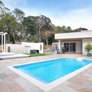 他の地域の長方形モダンスタイルのおしゃれな競泳用プールの写真