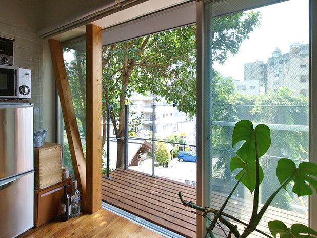 インダストリアル ベランダ・バルコニー by 志田茂建築設計事務所