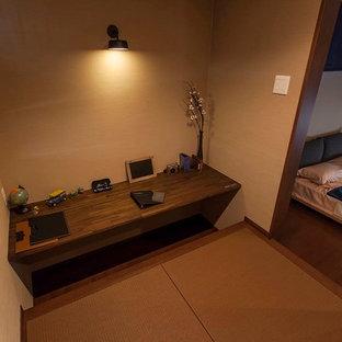 Asiatisches Arbeitszimmer mit Tatami-Boden in Sonstige