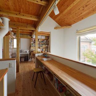 東京23区のカントリー風おしゃれなホームオフィス・書斎の写真