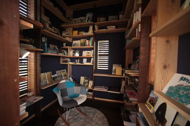 ミッドセンチュリー ホームオフィス・仕事部屋 by 株式会社ハーミットクラブデザイン