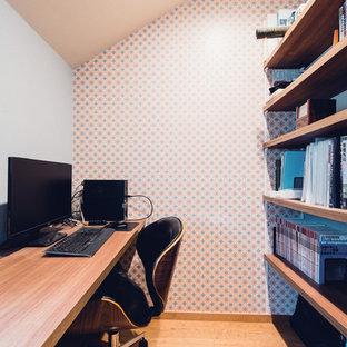 横浜のミッドセンチュリースタイルのおしゃれなホームオフィス・書斎の写真