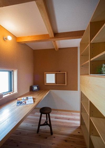 コンテンポラリー ホームオフィス・書斎 by しまだ設計室