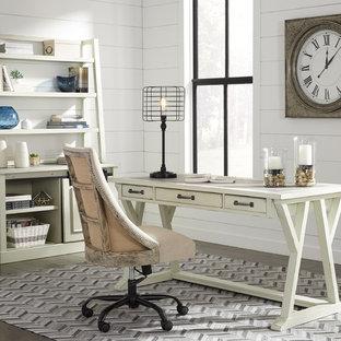 Inspiration pour un bureau style shabby chic.