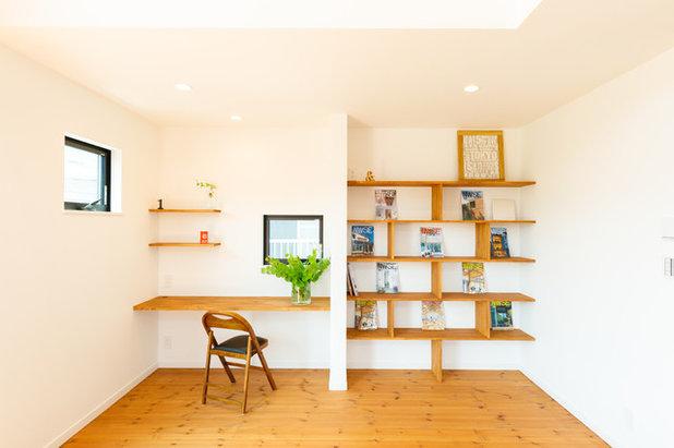 モダン ホームオフィス・書斎 by MEIJI HOMES 自由設計・自然素材の明治ホームズ
