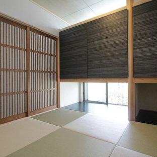 Diseño de despacho minimalista con tatami