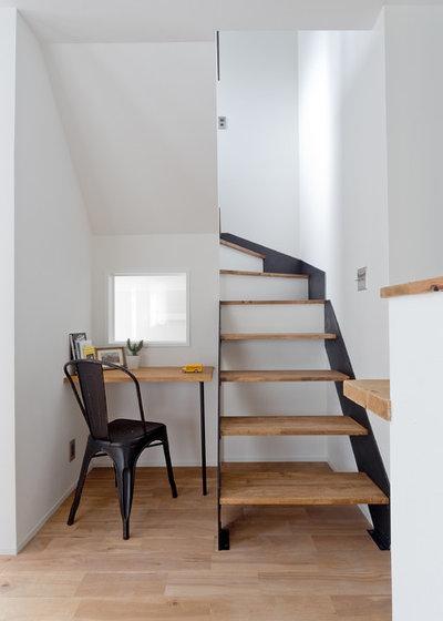 コンテンポラリー ホームオフィス・書斎 by SCHOOL BUS空間設計