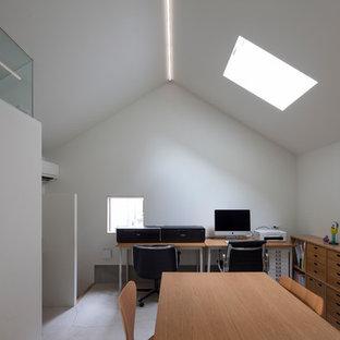 横浜の北欧スタイルのおしゃれなホームオフィス・書斎の写真