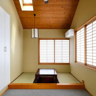 アジアンスタイルのおしゃれなホームオフィス・仕事部屋の写真
