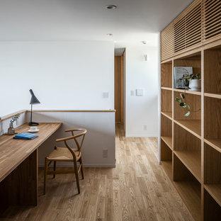 東京都下の和風のおしゃれなホームオフィス・仕事部屋の写真