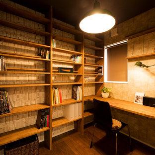 他の地域のミッドセンチュリースタイルのおしゃれなホームオフィス・仕事部屋の写真