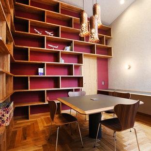 札幌のコンテンポラリースタイルのおしゃれなホームオフィス・書斎の写真