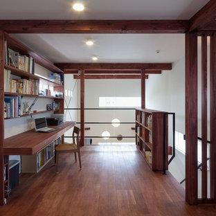 他の地域のミッドセンチュリースタイルのおしゃれなホームオフィス・書斎の写真